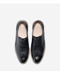 Cole Haan - Black Lunargrand Wingtip Oxford - Lyst