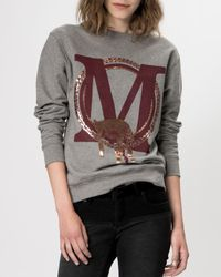 Maje - Gray Sweater - Gareth - Lyst