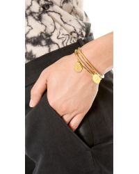 kate spade new york - Metallic Charm Letter Bangle Bracelet - N - Lyst