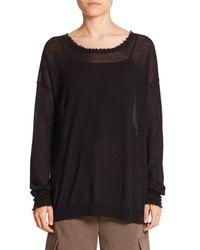 Helmut Lang | Black Fine-gauge Cashmere Sweater | Lyst