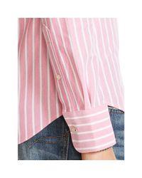 Polo Ralph Lauren - Pink Striped Knit Oxford Shirt - Lyst