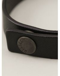 DIESEL - Black Belt With A Matching Bracelet for Men - Lyst