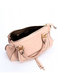 Chloé - Pink Blush Nude Leather Large 'marcie' Tote Bag - Lyst