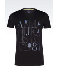 Armani Jeans | Black Jersey T-shirt for Men | Lyst