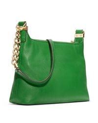 MICHAEL Michael Kors - Green Small Bedford Tassle Pebbled Messenger Bag  - Lyst