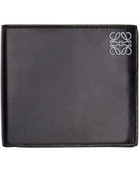 Loewe - Black Leather Logo Wallet for Men - Lyst