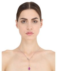 Nina Runsdorf - Red Ruby Drop Necklace - Lyst