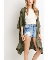 Forever 21 | Green Textured Dolman Cardigan | Lyst