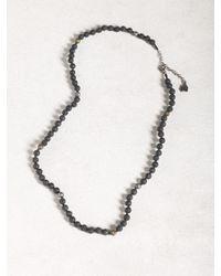 John Varvatos - Black Lava Bead Station Necklace for Men - Lyst