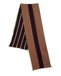 Bally - Brown Striped Wool Scarf for Men - Lyst