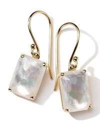 Ippolita | White 18k Gold Rock Candy Gelato Single Rectangle Drop Earrings | Lyst