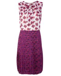 Tory Burch | Floral Pleated Dress | Lyst
