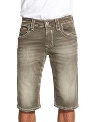 Rock Revival - Gray Colored Denim Shorts for Men - Lyst