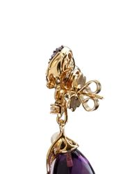 Anabela Chan - Metallic 'Raspberry' 18K Gold Amethyst Briolette Drop Earrings - Lyst