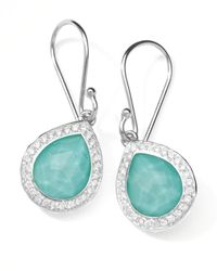 Ippolita | Blue Rock Candy Diamond Turquoise Doublet Teardrop Earrings 45l | Lyst