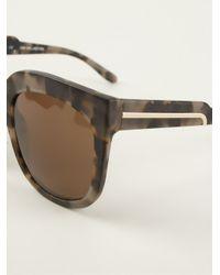 Stella McCartney - Brown Oversized Sunglasses - Lyst