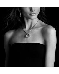 David Yurman - Metallic X Pendant Necklace With Diamonds - Lyst