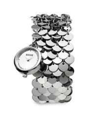 Versus | Metallic Lights Stainless Steel Disc Charm Bracelet Watch | Lyst
