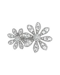 Maria Canale For Forevermark | Metallic Aster Collection 18k White Gold Diamond Double-flower Ring | Lyst