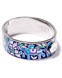 Liberty - Blue Navy Imran Multicolour Thick Cuff - Lyst