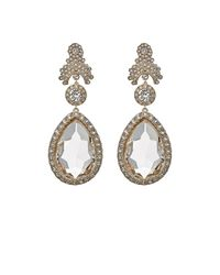 Givenchy - White Statement Clip-on Drop Earrings - Lyst