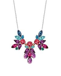 Swarovski | Multicolor Cardinal Crystal Cluster Necklace | Lyst