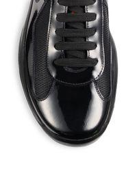 Prada Black Patent America's Cup Sneakers for men