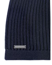 DSquared² | Blue Ribbed Wool Beanie Hat & Gloves Set for Men | Lyst