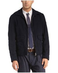 BOSS Orange - Blue Blouson Jacket 'odilo-w' In Cotton for Men - Lyst