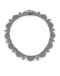 Adriana Orsini - Metallic Statement Pave Crystal Gate All-around Necklace/gunmetal-tone - Lyst