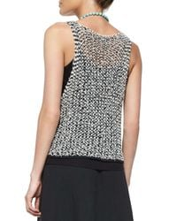 Eileen Fisher - Black Tufted Twist Sleeveless Sweater - Lyst
