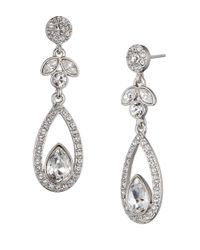 Givenchy | Metallic Teardrop Earrings, Silvertone | Lyst