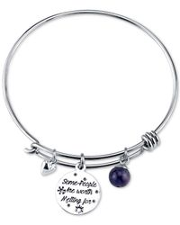 Disney - Metallic Frozen Olaf Charm Bangle Bracelet In Stainless Steel With Silver-plated Charms - Lyst