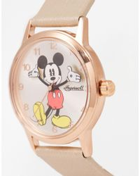 Disney - Pink Rose Gold Mickey Mouse Watch - Lyst