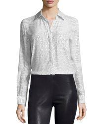 FRAME - White Le Boyfriend Classic Shirt - Lyst
