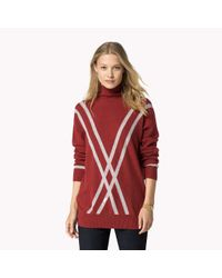 Tommy Hilfiger | Red Wool Polo Neck | Lyst