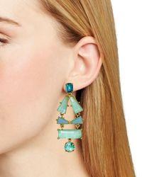Kate Spade | Green Beach Statement Earrings | Lyst