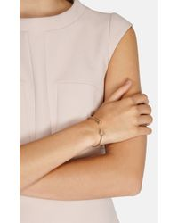 Karen Millen - Metallic Arrow Bracelet - Lyst