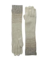 Lauren by Ralph Lauren | Natural Mohair Dipped Aran Glove | Lyst