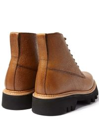 Foot The Coacher - Brown Tan Gideon Commando Lace Up Boot for Men - Lyst