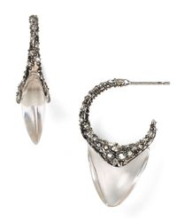Alexis Bittar - Metallic Lucite Crystal Pave Shark Tooth Post Earrings - Lyst