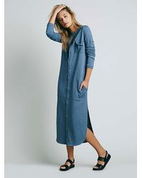 Free People | Blue Fp Beach Womens Something About Sam Shirtdress | Lyst