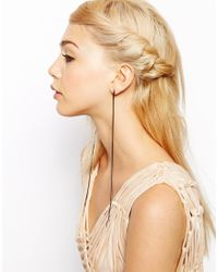 ASOS | Gray Limited Edition Crystal Chain Tassel Earrings | Lyst