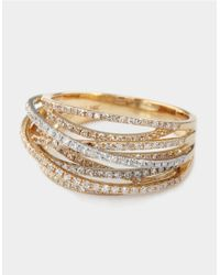 Effy | Metallic Diamond 14k White And Yellow Gold Ring, 0.67 Tcw | Lyst