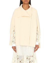 See By Chloé | White Knitted Wool Jumper | Lyst