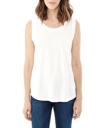 Alternative Apparel | White Muscle Cotton Modal T-shirt | Lyst
