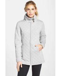 The North Face - Gray 'caroluna' Fleece Jacket - Lyst