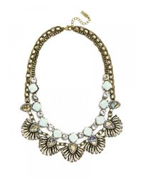 BaubleBar - Blue Sea Glass Anemone Bib - Lyst
