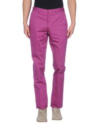 PS by Paul Smith - Pink Casual Trouser for Men - Lyst