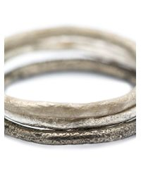 Pearls Before Swine | Gray Set Of Three Band Rings | Lyst